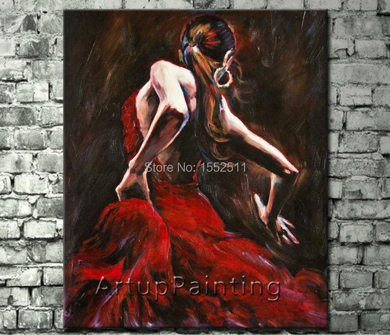 Ispanijos flamenko šokėjos tapyba latina moterimi aliejinė tapyba - Namų dekoras