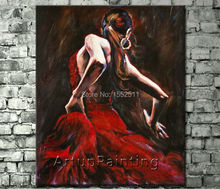 Spanish Flamenco Dancer painting latina woman Oil painting on canvas hight Quality Hand-painted Painting latina 10