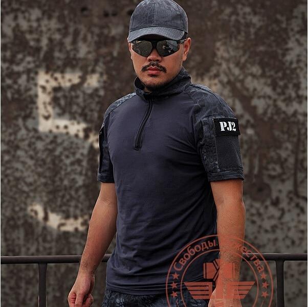 Rattlesnake Camo Shooter Shirt Mens Python Grain Tactical Hunting Paintball Camping Outdoor Sports T-shirts