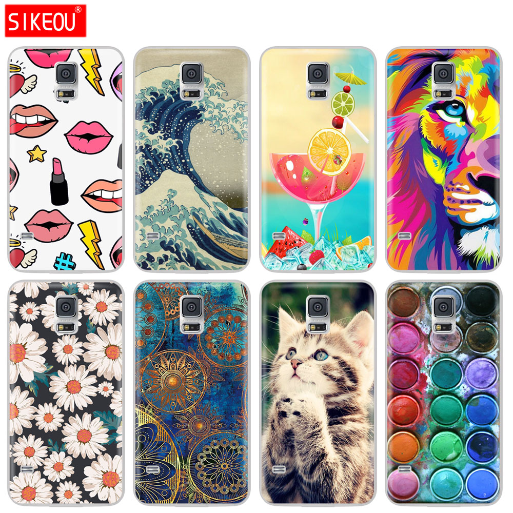 SIKEOU Soft Silicon TPU Cover For <font><b>Samsung</b></font> <font><b>Galaxy</b></font> <font><b>S5</b></font> <font><b>Case</b></font> Phone Cover For <font><b>Samsung</b></font> <font><b>S5</b></font> Neo <font><b>Case</b></font> Capa For <font><b>Samsung</b></font> <font><b>S5</b></font> I9600 SM-<font><b>G900F</b></font> image