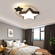 โคมไฟเพดาน LED โมเดิร์นสำหรับห้องนอนห้องนั่งเล่น Lustre Avize Dimming เพดานโคมไฟเด็กชายและหญิง