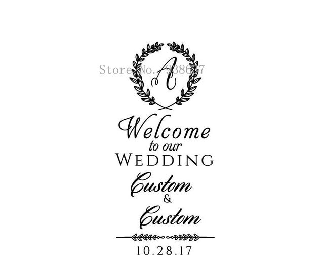 Online Shop Personalized Wedding Welcome Sign Wall Decal-Welcome to ...