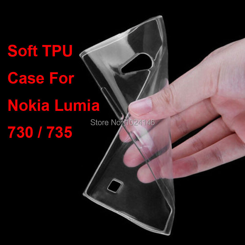 Новый тонкий кристалл прозрачный мягкой ТПУ задняя крышка защиты кожи для Nokia Lumia 730 735 4.7 дюймов