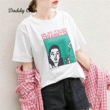 2018 verano nuevo diseño fumar mujeres Casual blanco Camiseta de manga  corta femenina Top camisetas impreso 04a501d310f