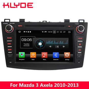 "KLYDE 8"" 4G WIFI Octa Core PX5 Android 8.0 4GB RAM 32GB ROM RDS Car DVD Player Radio GPS Navigation For Mazda 3 Axela 2010-2013"