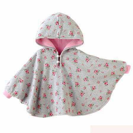 Baby Coats Girl's Smocks Outerwear Fleece cloak Jumpers mantle Children's  Poncho 1pcs/lot Cape