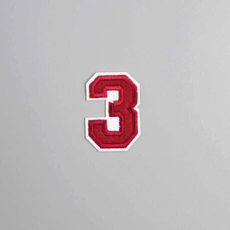 番号 4*5.5 センチベンガラパッチ服刺繍アップリケアイロン服縫製用品装飾レザーバッジソーオンにバッジ
