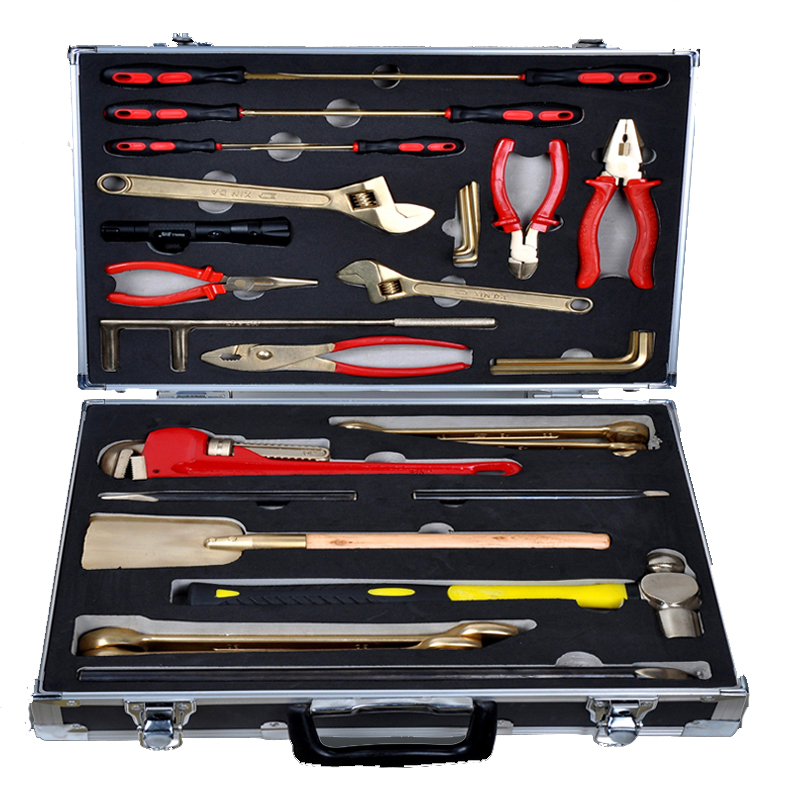 Antiscintilla instruments of combination sets - 36 pcs, copper alloy hand tools, ex proof and safety 1pc