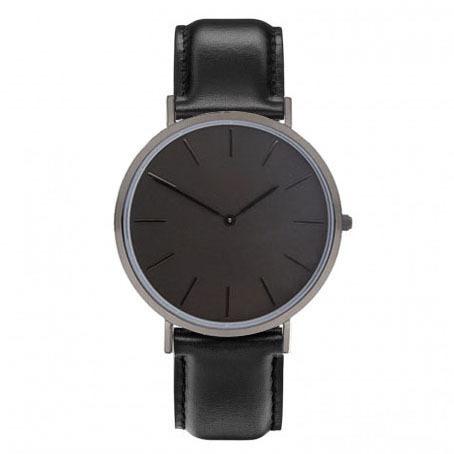 Hodinky Japón Reloj Movimiento de Cuarzo Negro Banda de Cuero Genuino reloj de pulsera de cuero