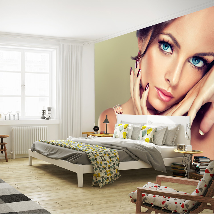 Fashion Beauty Model Girl Wallpaper Custom Wall Mural 3D Photo Wallpaper  Bedroom Beauty Shop Room Decor Living Room Hallway Home In Wallpapers From  Home ...