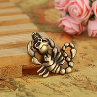 37*33MM alloy Charm Pendants skull Scorpion Ancient Bronze ancient silver pendant jewelry Making accessories diy material