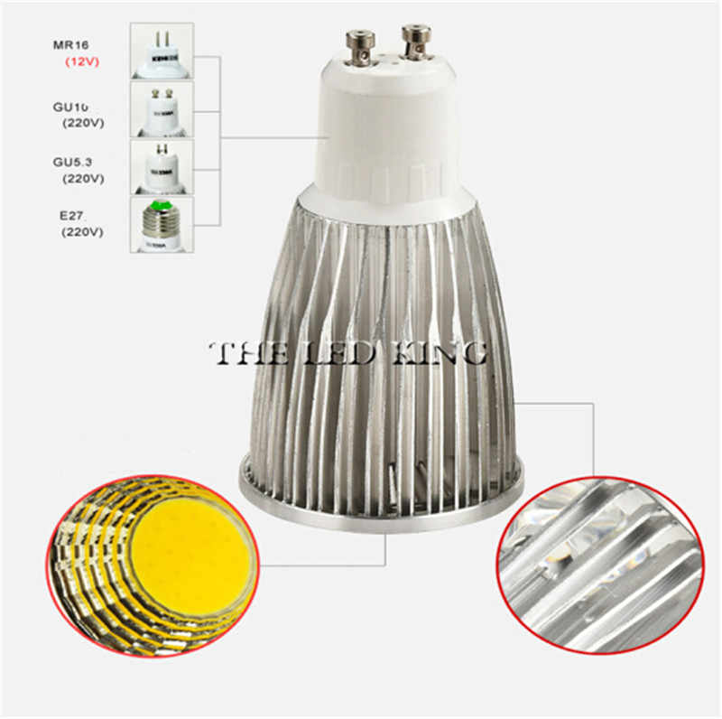 1-10X GU10 LED 電球ランプ 110V 220V 3 ワット 5 ワット 7 ワット MR16 LED DC AC 12V 調光可能な Cob LED スポットライトアルミ AC85V-265V GU5.3 スポットライト