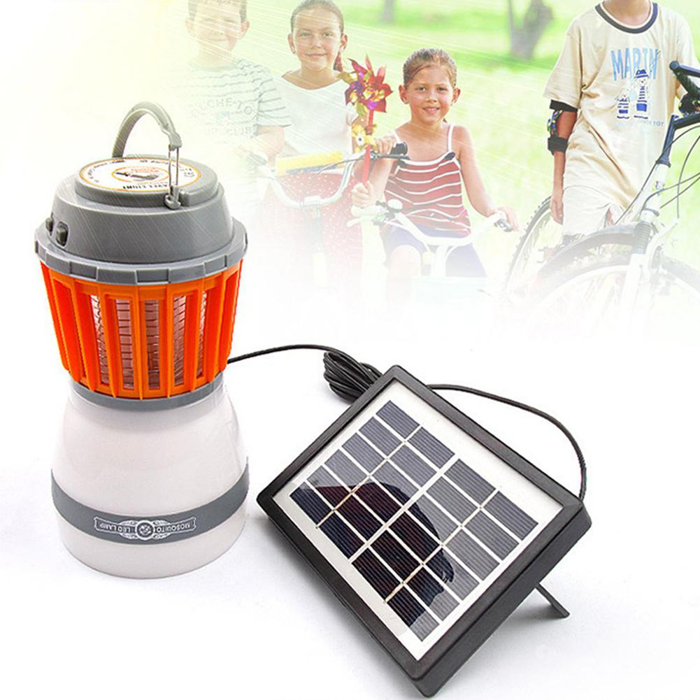 LanLan Solar Powered USB Charging Waterproof Electric Shock LED Mosquito Killer Lamp Outdoor Mosquito Killer Night Light electric shock mosquito killer lamp led solar powered camp tent bulb light no radiation mosquito trap waterproof outdoor decor