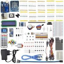 1 компл. starter kit базовый обучения Сюита для UNO R3 КИТ Модернизированный Шаговые двигатели LED перемычка Провода Наборы для Arduino с коробку
