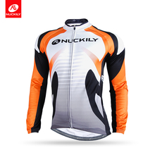 NUCKILY Reflective Mountain Bike Wear Cycling Clothes Custom Long Sleeve  Bicycle Cycle Jerseys NJ528-W cf905a900