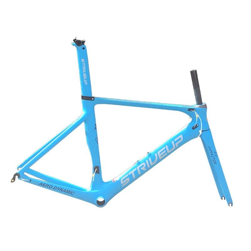 Aero cadre en carbone cadre de vélo de route accessoires de vélo toray t800 UD BB92 support de pédalier 50/53/56 cm personnalisable