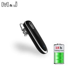 Деловые Bluetooth наушники M & J F14, Беспроводная стереогарнитура с микрофоном, гарнитура для звонков, наушники для Xiaomi, Samsung, IPhone