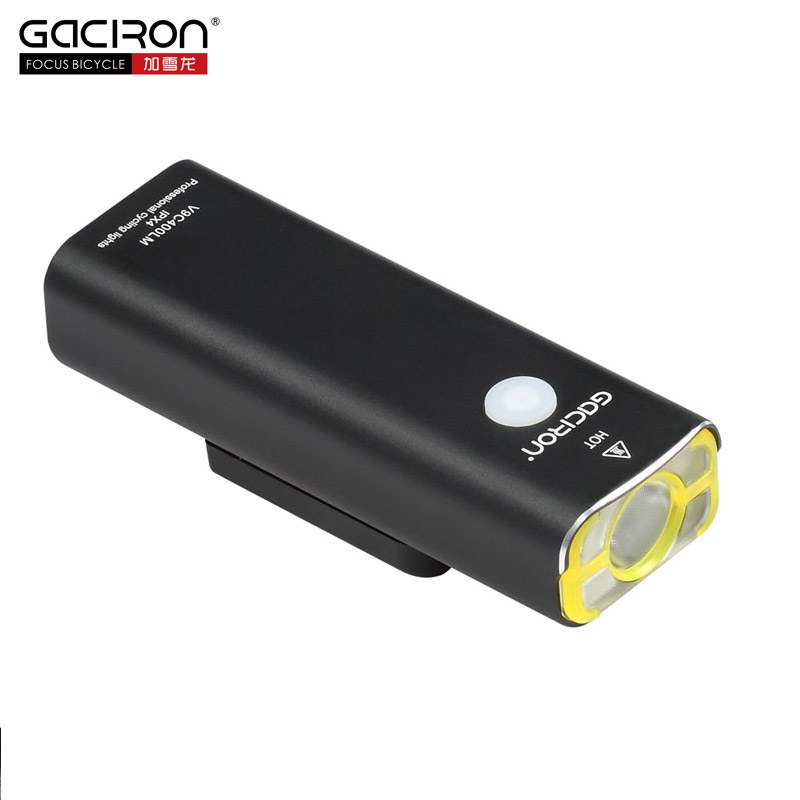 GACIRON 400Lumens Cycling Waterproof LED Light USB Rechargeable Bike Front Light Bicycle Flashlight Torch Lamp on the Handlebar