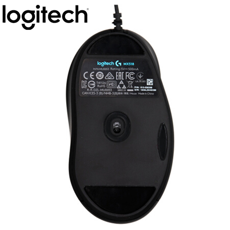 Original Logitech MX518 LEGENDARY Classic Gaming Mouse 16000DPI Programming Mouse Upgraded From MX500/510 For CSGO LOL OW PUGB