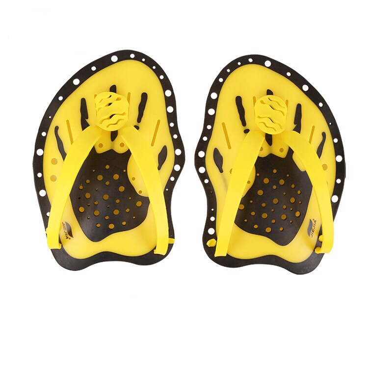 1 Pair Swimming Paddles Adjustable PVC Hand Webbed Gloves Beginner Hand Fin Training Diving Paddle Gloves Paddles Water Sport