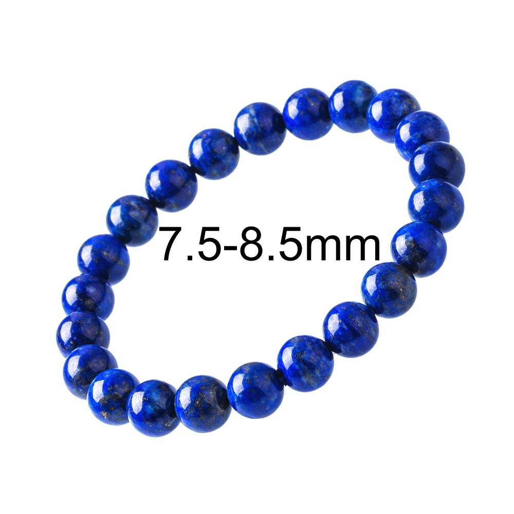 573807946104a Lapis Lazuli Bracelet Men 6 10mm Unisex Blue Natural Stone Bead ...