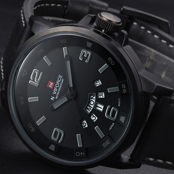 2016 новый люксовый бренд кожаный ремешок мужские кварцевые дата часы мода свободного покроя спортивные часы мужчины военный наручные часы