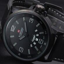 2016 nouvelle marque de luxe bracelet en cuir analogique hommes Quartz Date horloge mode Casual sport montres hommes militaire montre – bracelet
