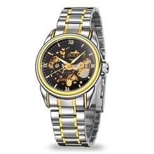 En 2016, de acero inoxidable de moda a prueba de agua ahuecan hacia fuera el reloj mecánico, reloj de pulsera de ocio de moda de los hombres de negocios