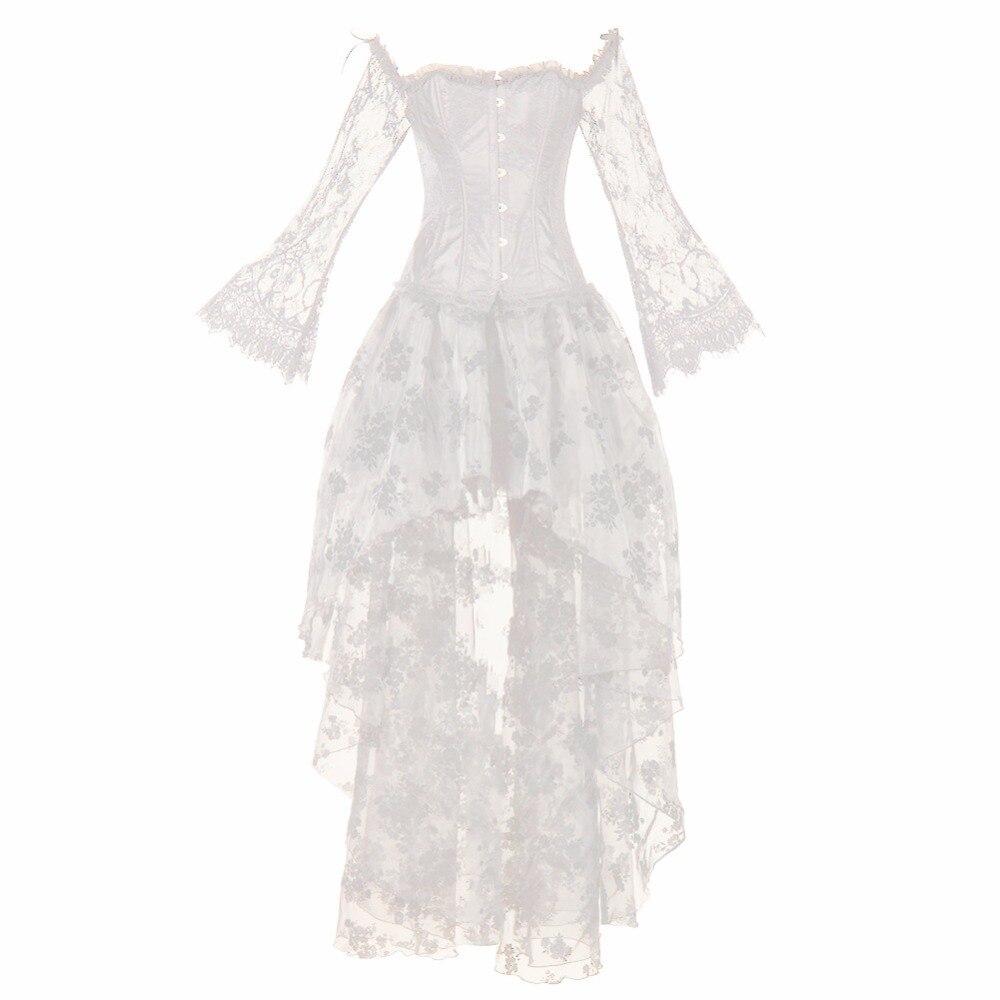 Femmes Vintage Steampunk Corset robe victorienne rétro gothique Corset Burlesque dentelle Corset et Bustiers longue irrégulière jupe ensemble
