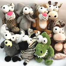 Lovely Big Eyes Giraffe Crocodile Zebra Buffalo Lion Monkey Elephant Leopard Stuffed Animals Plush Toys Kids Birthday Gift Toy