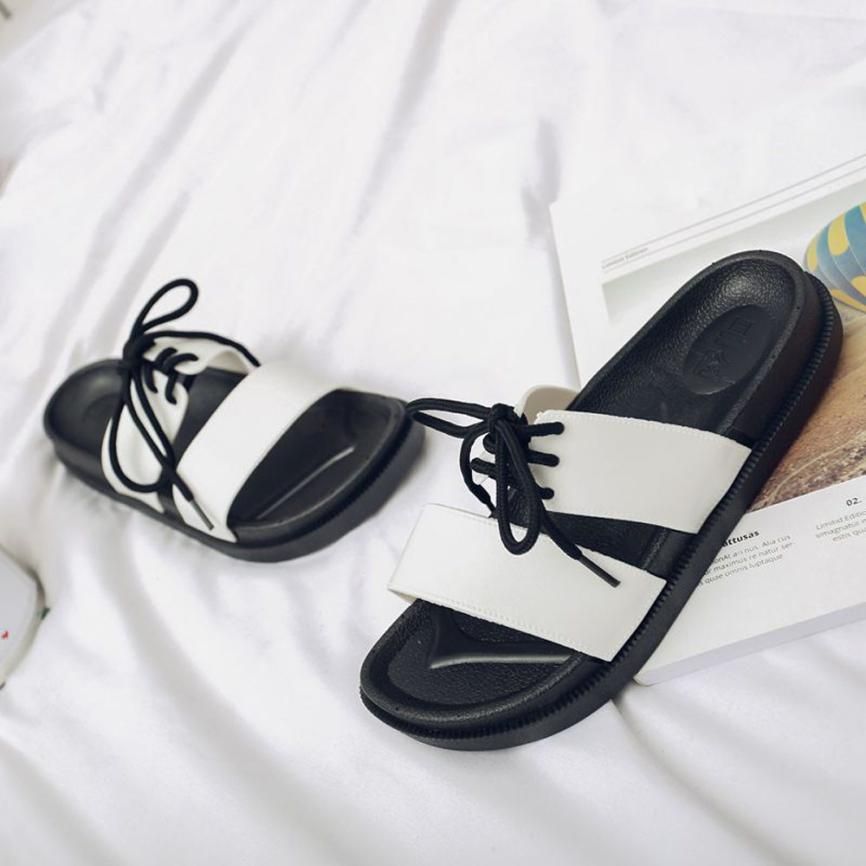 mokingtop Women slippers Straps Beach Shose Casual Shoes Women Slippers Summer Shoes Flat Flip Flops@@