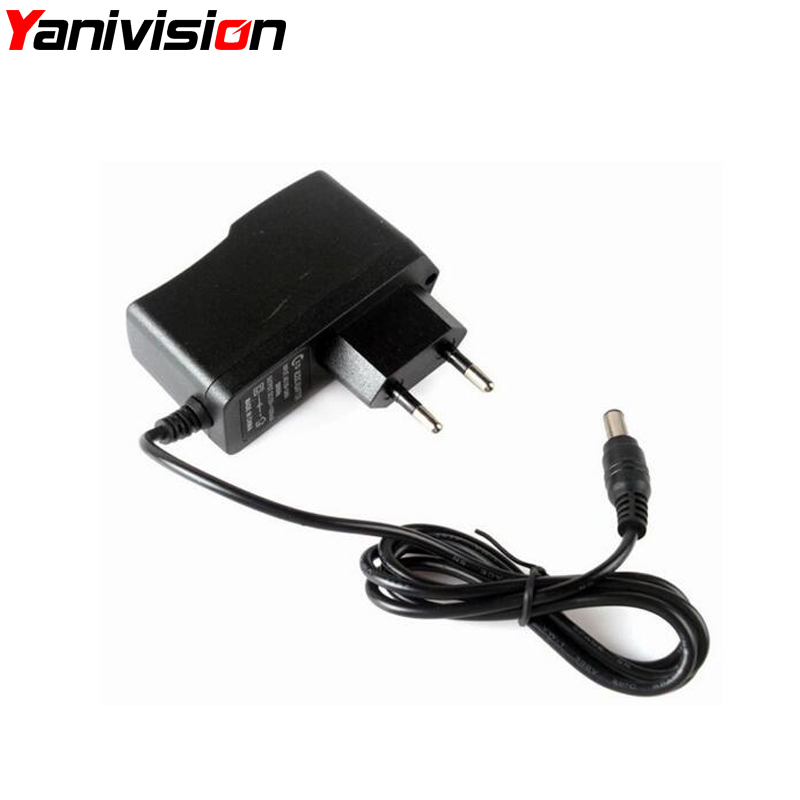 Yanivision 12V 1A AC 100V-240V Converter Adapter DC 1000mA Power Supply US AU UK EU Plug 5.5mm x 2.1mm for CCTV IP Camera eu us uk au 9v dc 1a guitar effects power supply source adapter power cord leads 3 daisy way chain cable fot fonte pedal