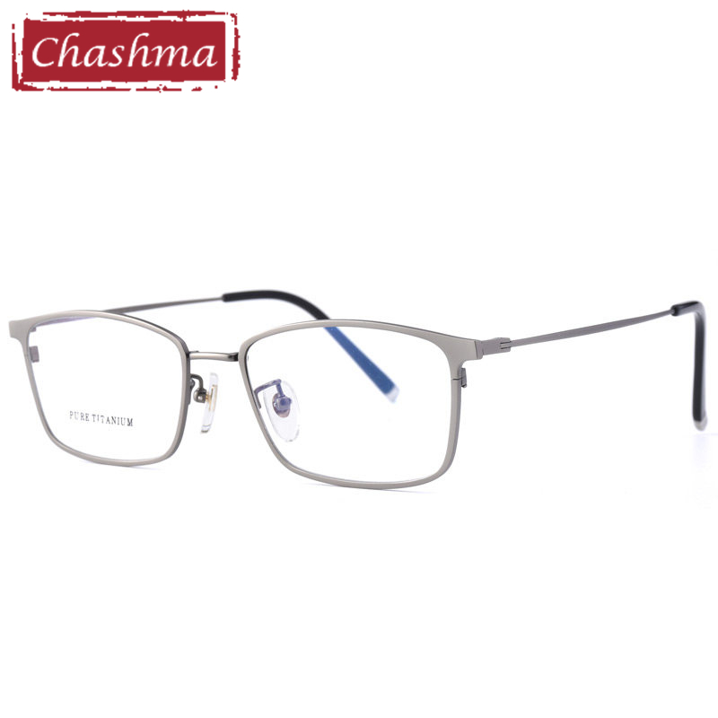 Prescription Glasses Men Pure Titanium Frame Anti Reflective Lenses Photochromic Anti Blue Ray Computer Working  Eyewear(China)