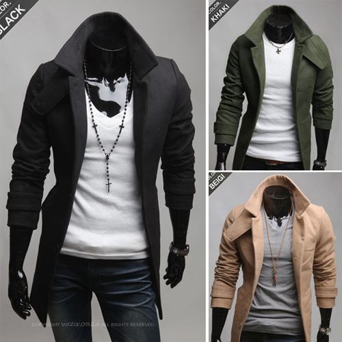 Men S Fashion Casual Long Section Single Breasted Nepal Coat