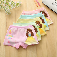 2017 hot sales Girl underwear Free shipping new arrived kids character boxer short children 95%cotton panties 5pcs/lot 1-7year