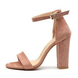 Mulheres Bombas Peep Toe Salto Alto Sandálias Fahion Para As Mulheres Bombas Mulheres Sapatos de verão Sapatos de Fivela Correia Ocasional Plus Size 34-43