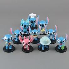 Livraison Gratuite Anime Cartoon Lilo & Stitch Mini PVC Action Figure Jouets Poupées Enfant Jouets Cadeaux 10 pcs/ensemble DSFG132