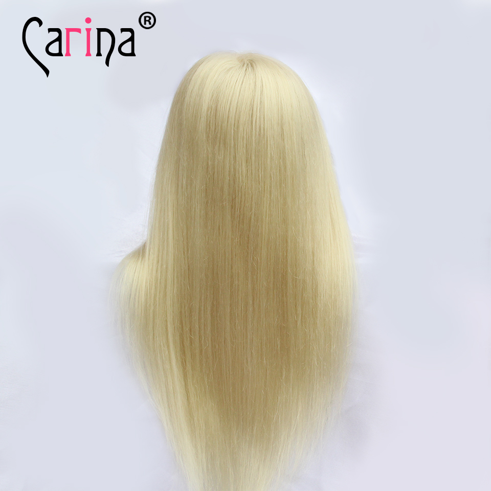 Светлые волосы манекен головы 22 Парикмахерские головы куклы 80% Человеческие волосы укладки Манекены головок Training парикмахер с парик