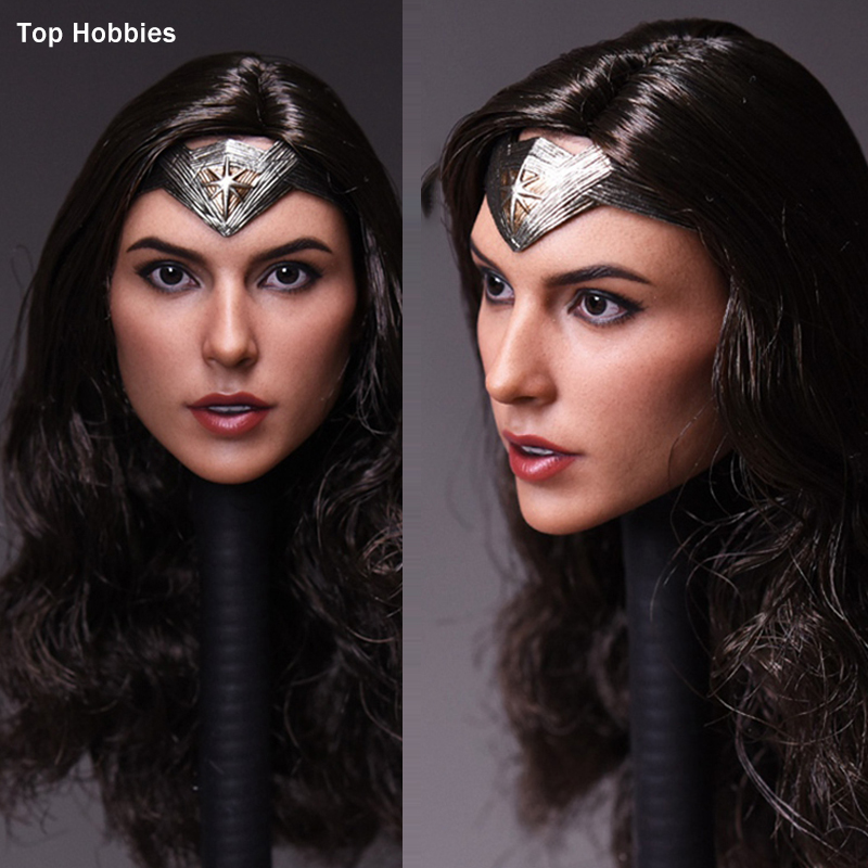 1//6 Wonder Woman Gal Gadot Head Carved Model For 12/'/' Action Figure Phicen Body