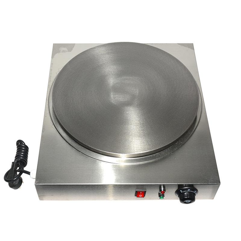220V Commercial Electric Crepe Machine Diameter 40cm Pancake Baking Iron Plate Commercial Electric Multigrain Pancake EU