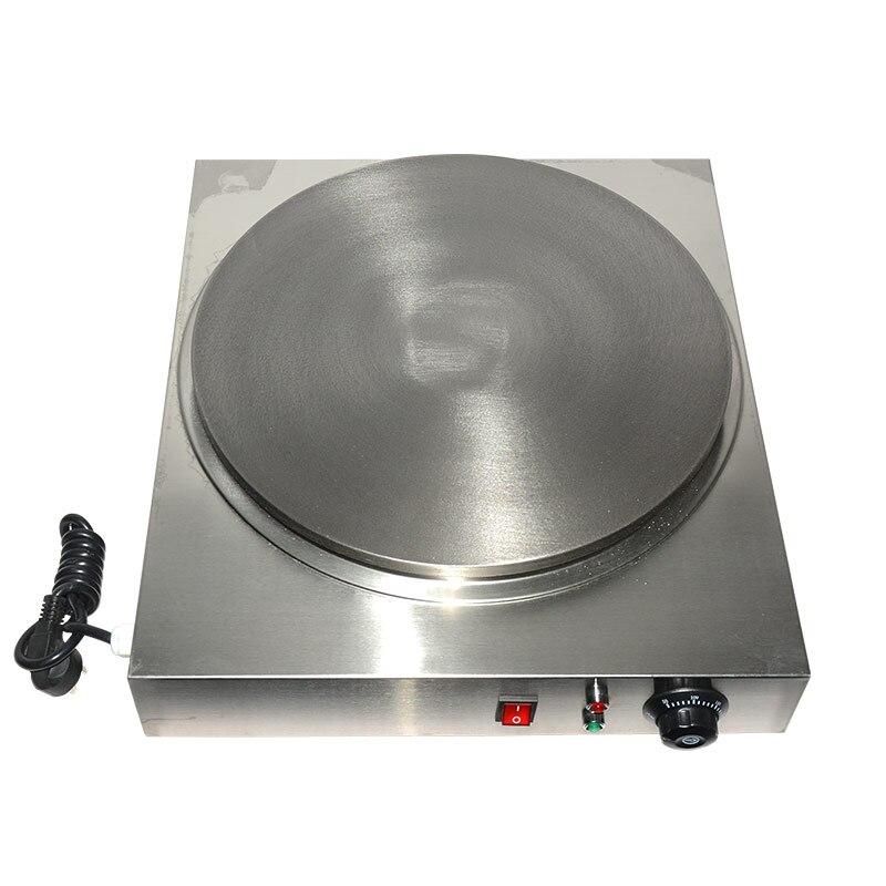 220 V Ticari Elektrikli Krep Makinesi Çapı 40 cm Gözleme Pişirme Demir Plaka Ticari Elektrikli Çok Tahıl Gözleme AB/AU /İNGILTERE