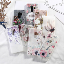 Flower Silicone Case For Samsung Galaxy S10 S9 S8 S7 Edge Plus Lite 3D Relief Rose Luxury TPU Phone Back Cover