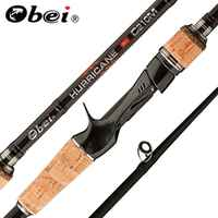 Obei perigee 1.8m 2.1m 2.4m 2.7m 3 section baitcasting fishing rod travel ultra light casting spinning lure 5g-40g M/ML/MH Rod