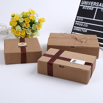 corrugated Kraft paper mooncake biscuit cookies packaging box baking food gift box wen6306