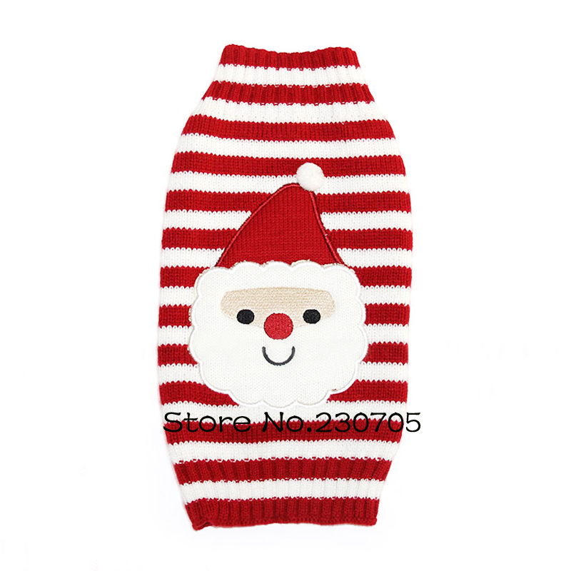 Dogs Pet Sweater Coat Clothes XXS XS S M L XL XXL- Small Puppy Santa Claus Pattern Apparel Father Christmas Free & Drop Shipping