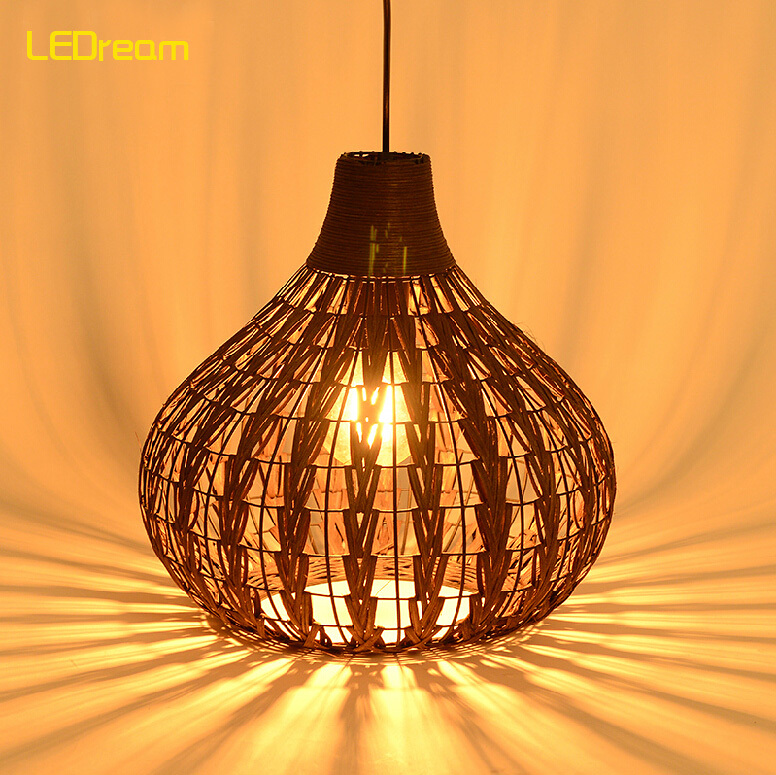 Hand knitting cany art chimney droplight Contracted and contemporary dining-room creative personality study cafe droplight contemporary and contracted creative personality retro art glass chandelier cafe restaurant study lamps act the role of milan