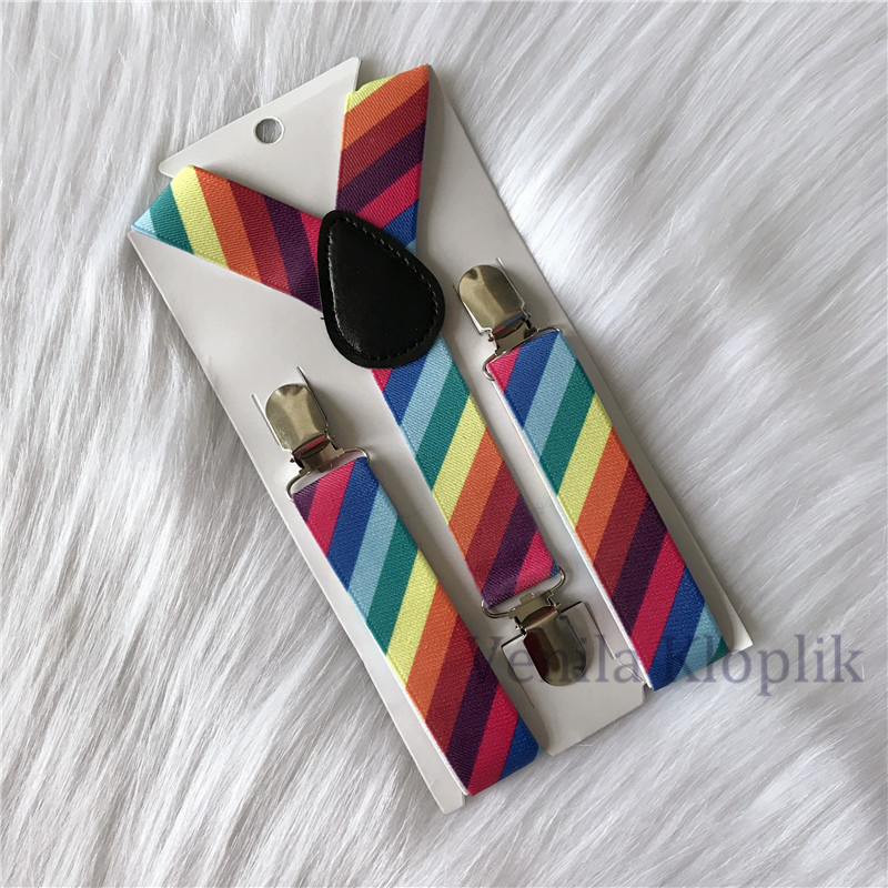 Children Colorful Suspenders Baby Boys And Girls Suspenders Clip-on Y-Back Braces Elastic Kids Suspenders