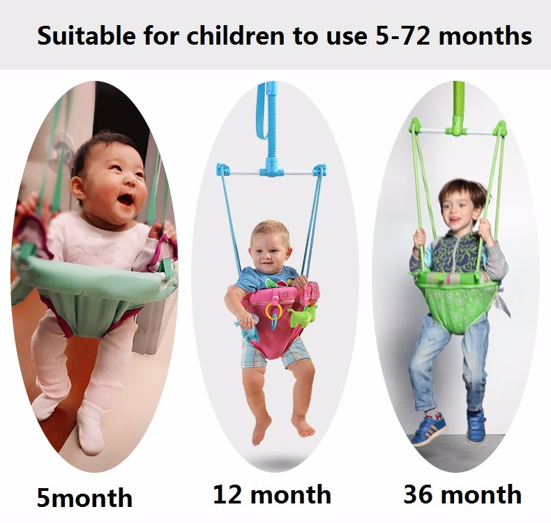 Baby jumping chair Body building frame Swing Children hanging chair Jumping toy Toddler Birthday Christmas gift Mother helper baby birthday gift balanced car toddler children toy scooter driving walk