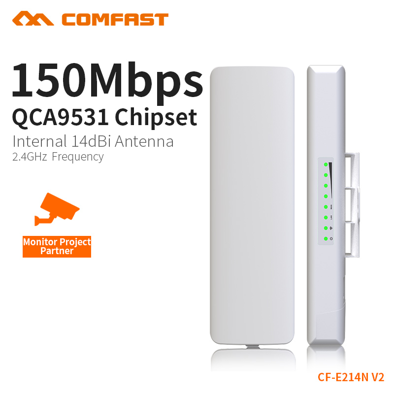 COMFAST Wireless Bridge 3KM Without Obstacles Transport 150Mbs 2.4G Built In Watchdog Wifi Extend For Monitoring CF-E214N 2PCS transport phenomena in porous media iii