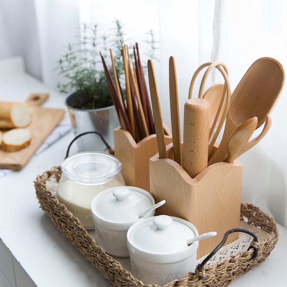 Houten Keuken Accessoires : Online Buy Wholesale wooden spoon rack from China wooden